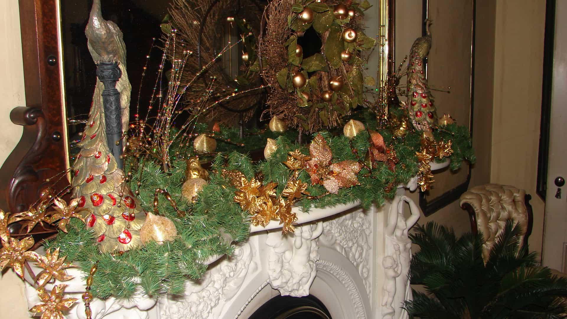 Portland Maine Christmas.Victoria Mansion Blue Elephant