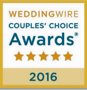 Weddingwire 2016 Badge Blue Elephant
